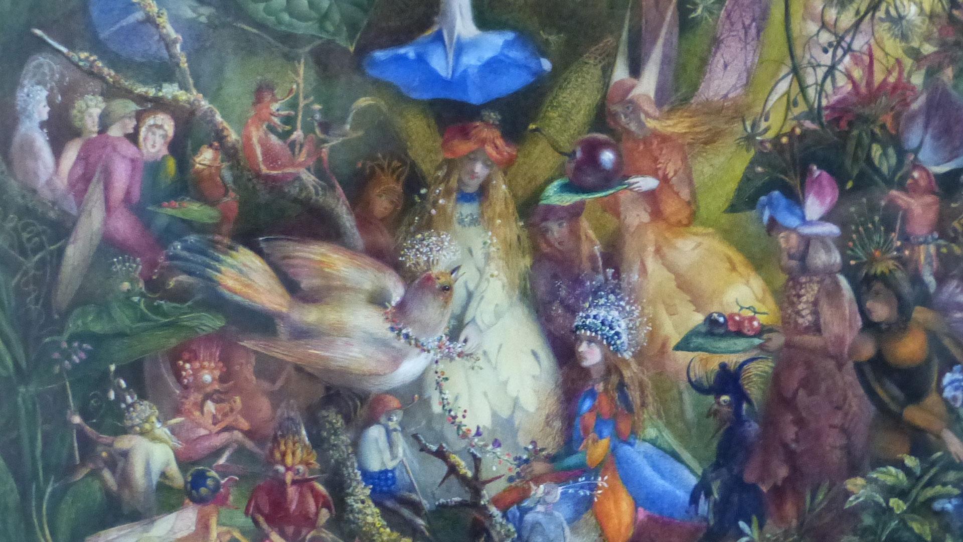 John-Anster-Fitzgerald-(1819-1906)-Fairies-attending-to-a-bird,-watercolour.-£40,000-60,000