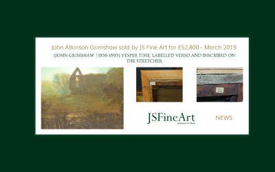 SOLD – John Atkinson Grimshaw @ £52,800